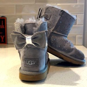 Ugg grey sparkle boots